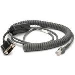 Zebra cable, RS232 Nixdorf, 12ft. (3.7m),coiled