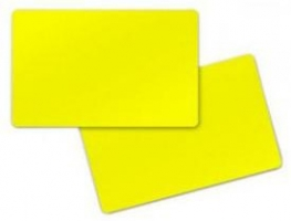 Zebra Premier Card, yellow